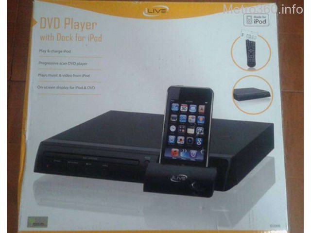 DVD player with Ipod dock
